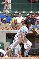 Myrtle Beach Pelicans infielder Leury Garcia #3 at bat during a game against the Wilmington Blue Rocks at BB&T Coastal Field in Myrtle Beach, South Carolina on April 10, 2011.  Photo By Robert Gurganus/Four Seam Images