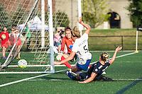 Allston, MA - Sunday July 17, 2016: Jami Kranich, Kassey Kallman, Leah Galton during a regular season National Women's Soccer League (NWSL) match between the Boston Breakers and Sky Blue FC at Jordan Field.