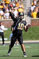 MU quarterback Chase Daniel in action during the first half against the Illinois State Redbirds at Memorial Stadium in Columbia, Missouri on September 22, 2007. The Tigers won 38-17.