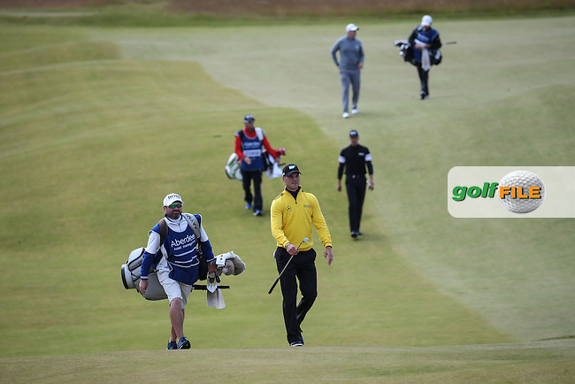 Martin Kaymer (GER) makes his way to the 9th (last hole) during Round Two of the 2016 Aberdeen Asset Management Scottish Open, played at Castle Stuart Golf Club, Inverness, Scotland. 08/07/2016. Picture: David Lloyd | Golffile.<br /> <br /> All photos usage must carry mandatory copyright credit (&copy; Golffile | David Lloyd)