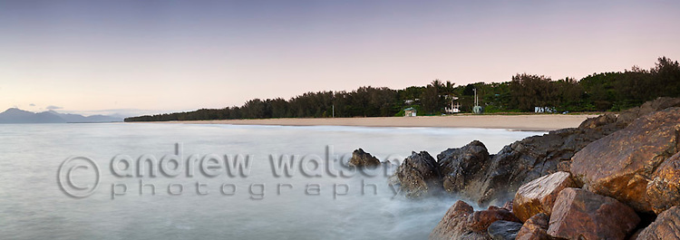 Yorkeys Knob beach at dawn.  Cairns, Queensland, Australia