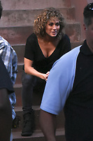 NEW YORK, NY - AUGUST 11: Jennifer Lopez on the set of Shades Of Blue in New York City on  August 11, 2017. <br /> CAP/MPI/ANT<br /> &copy;ANT/MPI/Capital Pictures