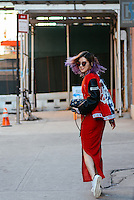 Irene Kim attends Day 2 of New York Fashion Week on Feb 13, 2015 (Photo by Hunter Abrams/Guest of a Guest)