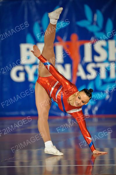 National Sports Aerobics Championships. Rivermeade Sports Centre. Reading.Chloe Farrance