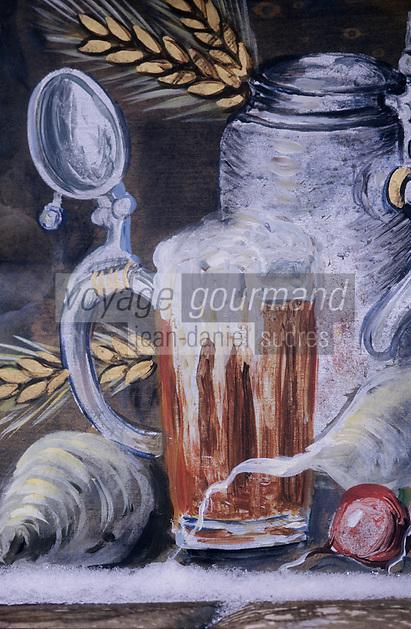 Europe/Allemagne/Forêt Noire/Hausern : Hôtel Adler - Enseigne sur le thème de la bière