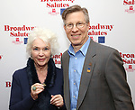 Fionnula Flanagan and Ira Mont attends Broadway Salutes 10 Years - 2009-2018 at Sardi's on November 13, 2018 in New York City.
