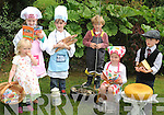 A LITTLE ROLE-PLAY!: Luisie Ní Urdail, Ella Guerin, Ruairi Coakley, Coailte Ó Hurdail, Connie Guerin and Conor Coakley having fun at the Park Hotel at the launch of the Kenmare Food Festival which takes place from July 12th to 14th.