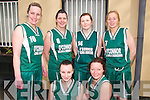 Basketball Tournament : Taking part in the Jim Lay Memorial Basket ball tournament held over the Easter weekend at Listowel Community centre were St Bridget's Baskekball Club, Currow. Front: Anne Marie Nelligan & Nora Buckley. back : Elaine Mitchell, Aisling Barrett, Joanne O'Connor & Mary Ellen Scanlon.