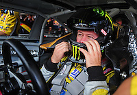 Sept. 20, 2008; Dover, DE, USA; Nascar Sprint Cup Series driver Robby Gordon during practice for the Camping World RV 400 at Dover International Speedway. Mandatory Credit: Mark J. Rebilas-