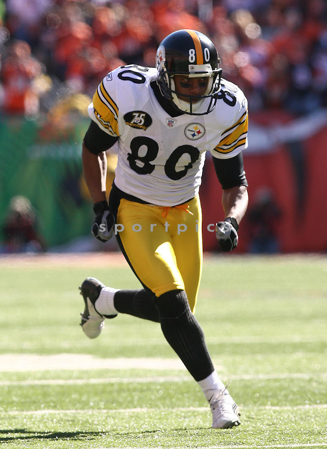 CEDRICK WILSON, of the Pittsburgh Steelers, in action during the Steelers games against the Cincinnati Bengals, in Cincinnati, Ohio on October 28, 2007.  ..The Steeler won the game 24-13...COPYRIGHT / SPORTPICS..........