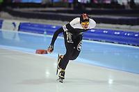 SCHAATSEN: HEERENVEEN: IJsstadion Thialf, 16-11-2012, Essent ISU World Cup, Season 2012-2013, Men 5000 meter Division B, Jordan Belchos (CAN), ©foto Martin de Jong