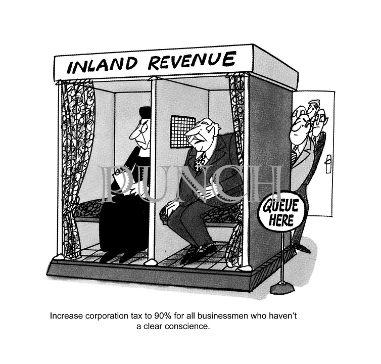 Increase corporation tax to 90% for all businessmen who haven't a clear conscience.