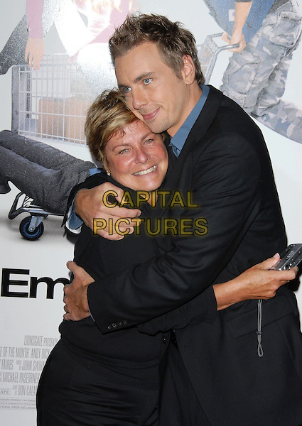 "DAX SHEPARD & MOTHER.The Lions Gate Premiere of ""Employee of the Month"" held at The Grauman's Chinese Theatre in Hollywood, California, USA. .September 19th, 2006.Ref: DVS.half length son mom mum family hug embrace black suit jacket.www.capitalpictures.com.sales@capitalpictures.com.©Debbie VanStory/Capital Pictures"