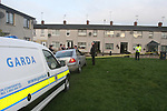 Garda Leaving the scene of the Fatal stabbing in Rathmulen Park in Drogheda in Sunday Morning. after showing the Dept. State pathologist the scene...Photo: Newsfile/Fran Caffrey.