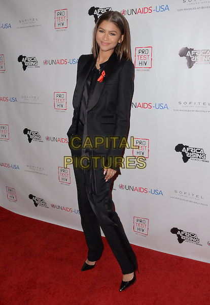 01 December - Beverly Hills, Ca - Zendaya. Arrivals for the Inaugural World AIDS Day Benefit presented by UnAIDS-USA and Africa Rising held at Sofitel Los Angeles. <br /> CAP/ADM/BT<br /> &copy;BT/ADM/Capital Pictures