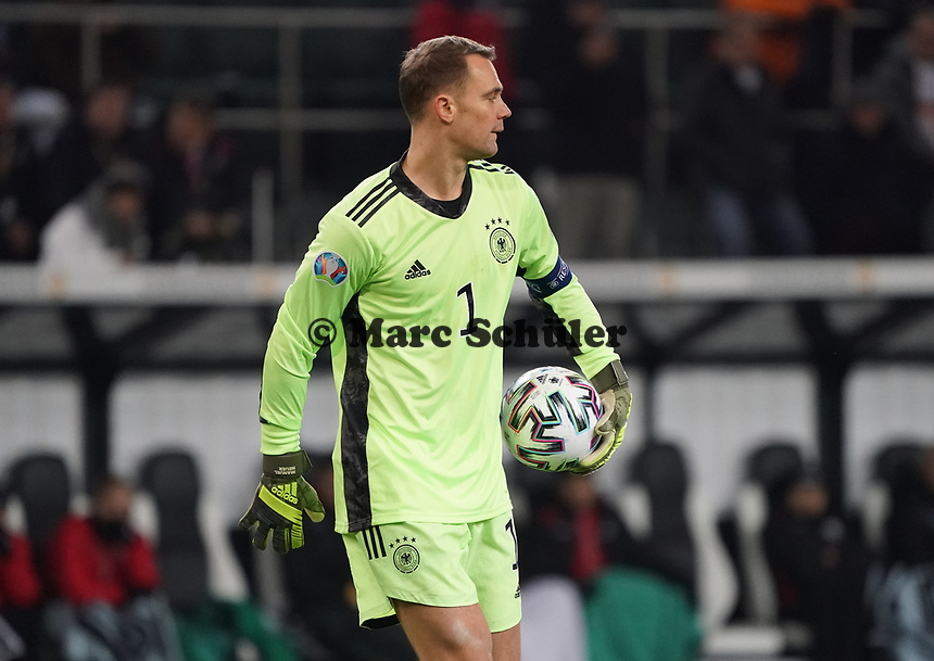 Torwart Manuel Neuer (Deutschland Germany) - 16.11.2019: Deutschland vs. Weißrussland, Borussia Park Mönchengladbach, EM-Qualifikation DISCLAIMER: DFB regulations prohibit any use of photographs as image sequences and/or quasi-video.