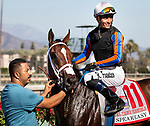 ARCADIA, CA: October 06: #11 El Tigre Terrble and Ruben Fuentes win the Speakeasy Stakes at Santa Anita Park on October 06, 2019 in Arcadia, California (Photo by Chris Crestik/Eclipse Sportswire)