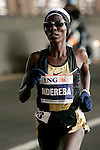 Catherine Ndereba (KEN) crosses the Queensboro Bridge from Queens into Manhattan while competing in the ING New York City Marathon in New York, New York on November 4, 2007.  Martin Lel (KEN) won the men's race with a time of 2:09:04  Paula Radcliffe (GBR) won the women's race with a time of 2:23:09.