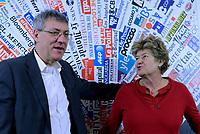 Maurizio Landini e Susanna Camusso alla Stampa Estera