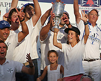 WELLINGTON, FL - APRIL 25:  Team Valiente celebrates after winning the US Open Polo Championship Final, at the International Polo Club Palm Beach, on April 25, 2017 in Wellington, Florida. (Photo by Liz Lamont/Eclipse Sportswire/Getty Images)