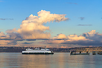 Vashon Island, Washington:<br /> WS Ferry Sealth approached the ferry terminal at Vashon Heights