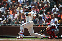 SAN FRANCISCO, CA - JULY 27:  Mac Williamson #51 of the San Francisco Giants bats against the Cincinnati Reds during the game at AT&T Park on Wednesday, July 27, 2016 in San Francisco, California. Photo by Brad Mangin