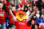 LONDON, ENGLAND - MARCH 29: A Wrexham fan wearing a daffodil hat during the FA Carlsberg Trophy Final 2015 at Wembley Stadium on March 29, 2054 in London, England. (Photo by Dacid Horn/EAP)