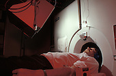 A patient receives a Petscan at Hammersmith Hospital, West London.