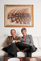 Mrs. and Mr. Olgiati, Art collectors, Lugano, Switzerland