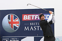 Ross Fisher (ENG) and on the 10th tee during the Pro-Am of the Betfred British Masters 2019 at Hillside Golf Club, Southport, Lancashire, England. 08/05/19<br /> <br /> Picture: Thos Caffrey / Golffile<br /> <br /> All photos usage must carry mandatory copyright credit (© Golffile | Thos Caffrey)