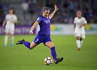 Orlando, FL - Saturday March 24, 2018: Orlando Pride midfielder Christine Nairn (7) plays the ball during a regular season National Women's Soccer League (NWSL) match between the Orlando Pride and the Utah Royals FC at Orlando City Stadium. The game ended in a 1-1 draw.