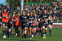 The Brumbies head back to the changing rooms before the Super Rugby match between the Hurricanes and Brumbies at CET Arena in Palmerston North, New Zealand on Friday, 1 March 2019. Photo: Dave Lintott / lintottphoto.co.nz
