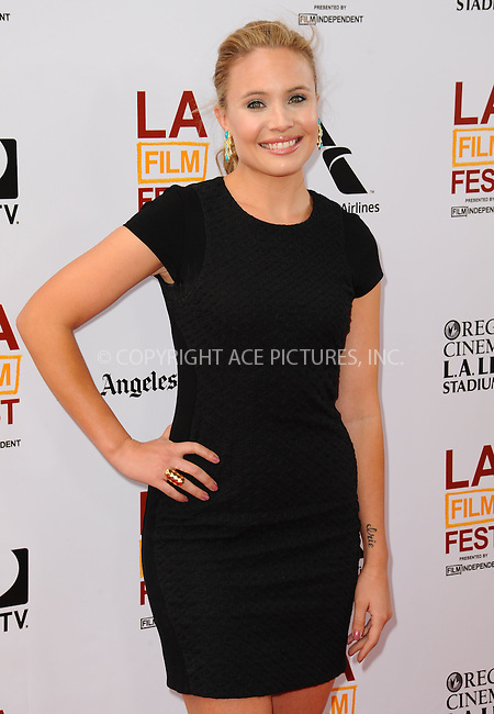 WWW.ACEPIXS.COM<br /> <br /> June 23 2013, LA<br /> <br /> Leah Pipes at the 2013 Los Angeles Film Festival premiere of the Fox Searchlight Pictures' 'The Way, Way Back' held on June 23, 2013 in Los Angeles, California.<br /> <br /> By Line: Peter West/ACE Pictures<br /> <br /> <br /> ACE Pictures, Inc.<br /> tel: 646 769 0430<br /> Email: info@acepixs.com<br /> www.acepixs.com
