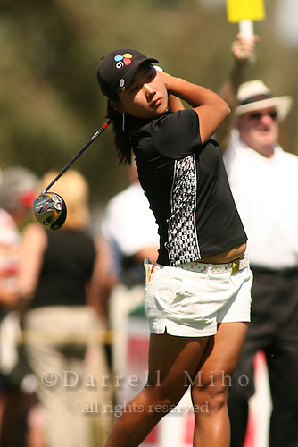 Apr. 2, 2006; Rancho Mirage, CA, USA; Seon Hwa Lee tees off during the final round of the Kraft Nabisco Championship at Mission Hills Country Club. ..Mandatory Photo Credit: Darrell Miho.Copyright © 2006 Darrell Miho .