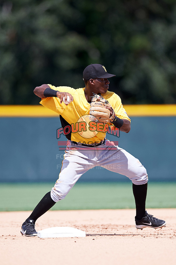 Pittsburgh Pirates Francisco Mepris (51) works on a side field during an Instructional League Intrasquad Black & Gold game on September 28, 2016 at Pirate City in Bradenton, Florida.  (Mike Janes/Four Seam Images)