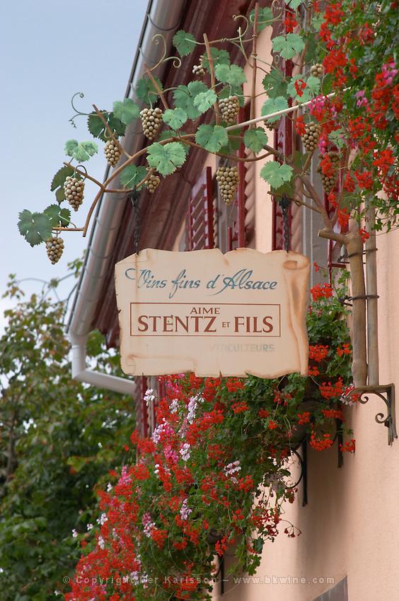 sign aime stentz & fils wettolsheim alsace france