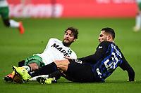 Manuel Locatelli-Danilo D'Ambrosio<br /> Milano 19-1-2019 Giuseppe Meazza stadium Football Serie A 2018/2019 Inter - Sassuolo <br /> Foto Image Sport / Insidefoto