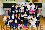 The pupils of Fybough NS Castlemaine who brought their pets to school on Friday