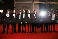 Buddy Duress, Robert Pattinson, Joshua Safdie, Ben Safdie, Taliah Webster, Oscar Boyson at the premiere of 'Good Time' at the 70th Festival de Cannes. <br /> May 25, 2017 Cannes, France<br /> Picture: Kristina Afanasyeva / Featureflash