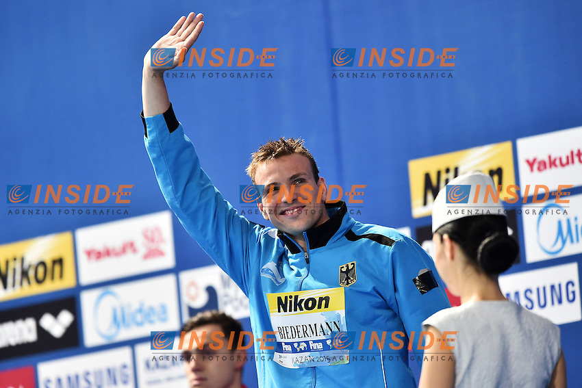 BIEDERMANN Paul GER Bronze Medal Men's 200m Freestyle<br /> Day12 04/08/2015 Kazan Arena <br /> Swimming Nuoto <br /> XVI FINA World Championships Aquatics  <br /> Kazan Tatarstan RUS <br /> Photo Andrea Staccioli/Deepbluemedia/Insidefoto