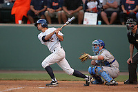 Matt Orloff of the Cal.St. Fullerton Titans during game against the UCLA Bruins at Jackie Robinson Stadium in Los Angeles,California on June 12, 2010. Photo by Larry Goren/Four Seam Images