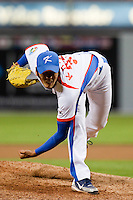 19 March 2009: #31 Kwanghyun Kim of Korea pitches against Japan during the 2009 World Baseball Classic Pool 1 game 6 at Petco Park in San Diego, California, USA. Japan wins 6-2 over Korea.