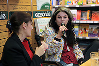 NO FEE PICTURES.21/9/12 Pictured is bestselling author of How To Be a Woman and her latest release Moranthology, Caitlin Moran In Eason, O'Connell St store on Friday 21st September. Caitlin was in conversation with journalist Sinead Gleeson and fans were invited to the evening of chat and had the opportunity to put their questions to Caitlin. Moranthology is available nationwide fron Eason stores and easons.com Picture:Arthur Carron/Collins