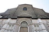 Dettaglio della facciata principale della Basilica di San Petronio a Bologna.<br /> Detail of the main front of San Petronio's Basilica in Bologna.<br /> UPDATE IMAGES PRESS/Riccardo De Luca