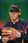 Yuichi Honda (JPN), .February 26, 2013 - WBC : .2013 World Baseball Classic, Exhibithion Game .match between Japan 0-1 Hanshin Tigers  .at Kyocera Dome, Osaka, Japan..(Photo by AJPS/AFLO SPORT)