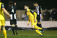 Bradley Warner of Hornchurch scores the first goal for his team and celebrates during Heybridge Swifts vs AFC Hornchurch, Bostik League Division 1 North Football at Scraley Road on 9th January 2018