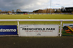 Welcome to Frenchfield Park sign. Penrith AFC V Hebburn Town, Northern League Division One, 22nd December 2018. Penrith are the only Cumbrian team in the Northern League. All the other teams are based across the Pennines in the north east.<br />