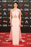 Barbara Lennie attends 30th Goya Awards red carpet in Madrid, Spain. February 06, 2016. (ALTERPHOTOS/Victor Blanco)