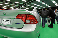 Montreal's AUTO SHOW 2007 feature many hybrid cars such as a Hinda Civic<br />