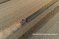 63801-12407 Harvesting corn in fall-aerial  Marion Co. IL